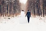 Photo mariage hivers tout-blanc Champenoise
