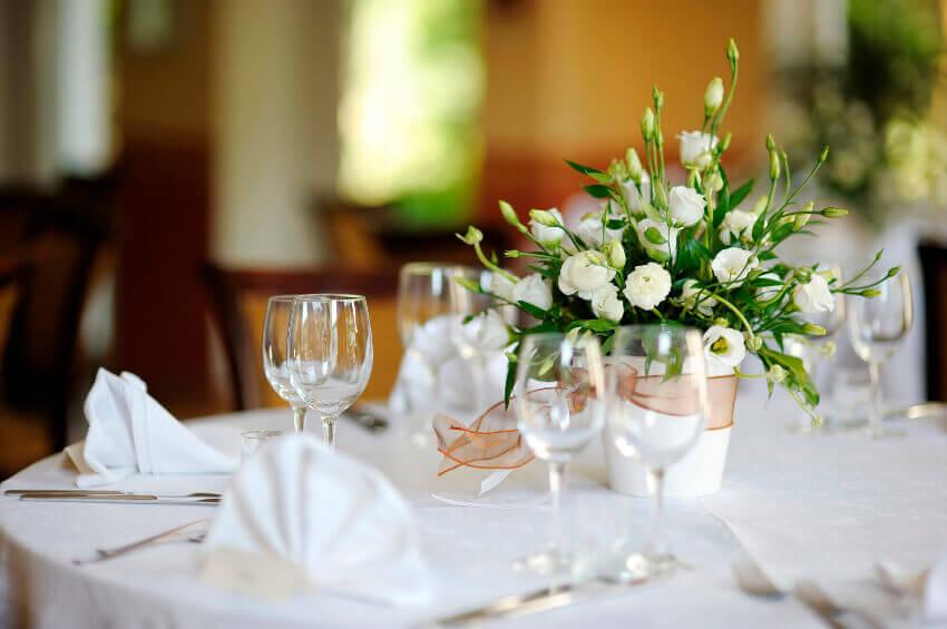 Présentation table réception