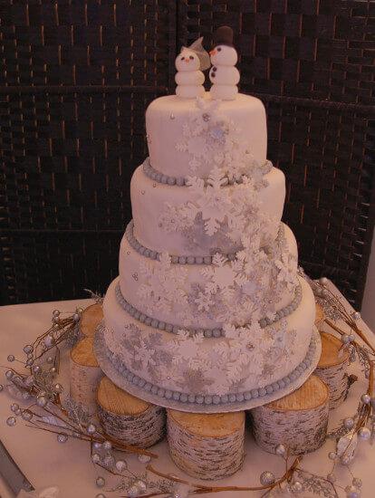 gâteau de mariage sans allergènes hivers